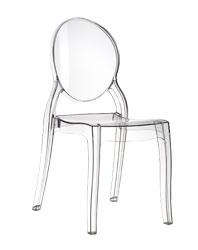 genomskinlig plaststol