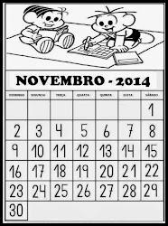 CALENDÁRIO DO MÊS DE  NOVEMBRO DE 2014