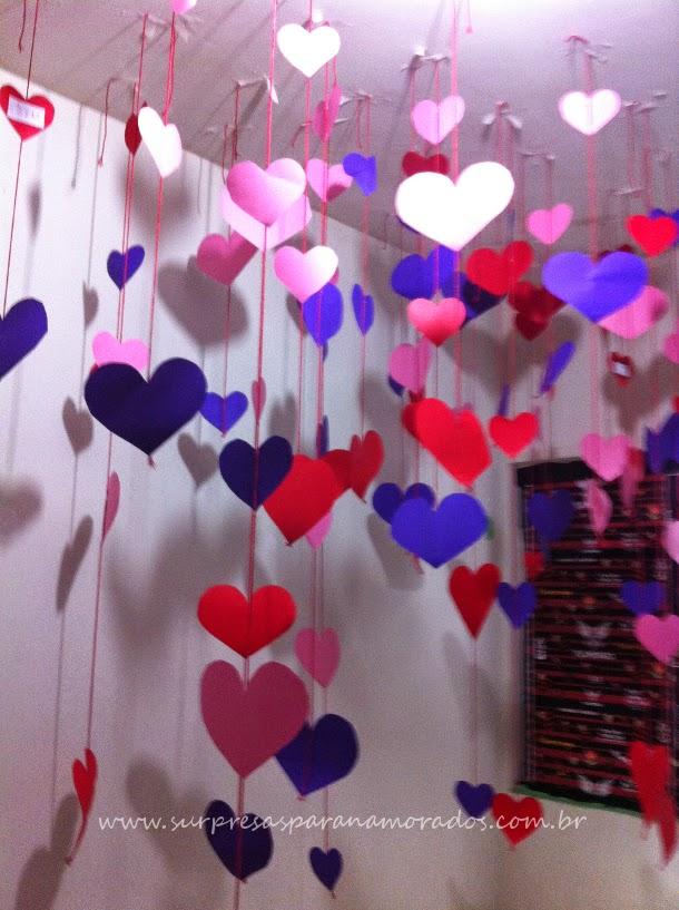corações no quarto