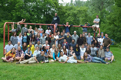 Daniela and her fellow EWB members at the end of their retreat.