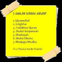 7 Amalan Sunnah Harian!