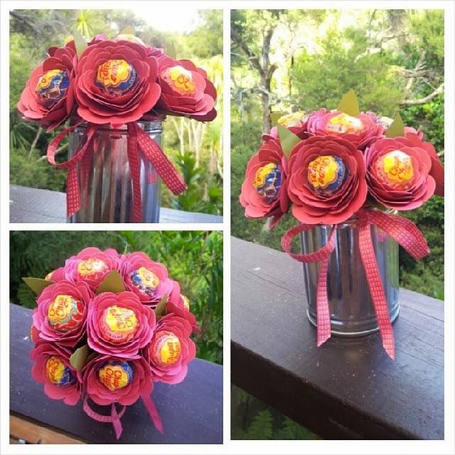 Julia\'s Cards: Lolly-pop Bouquet