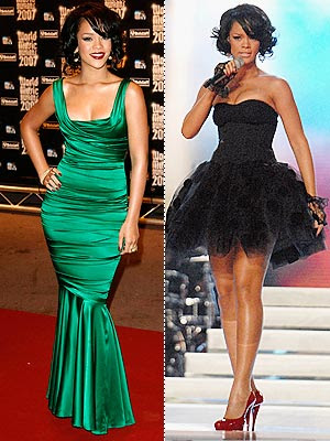 rihanna dress up. rihanna green dresses.