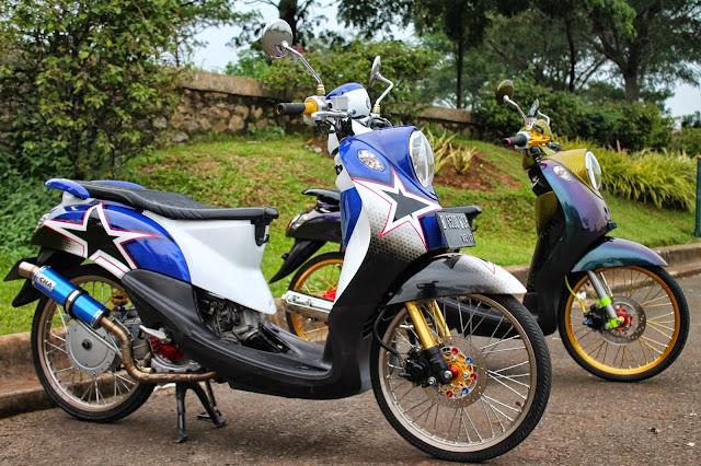Modifikasi Motor Yamaha Fino Velg Jari Jari