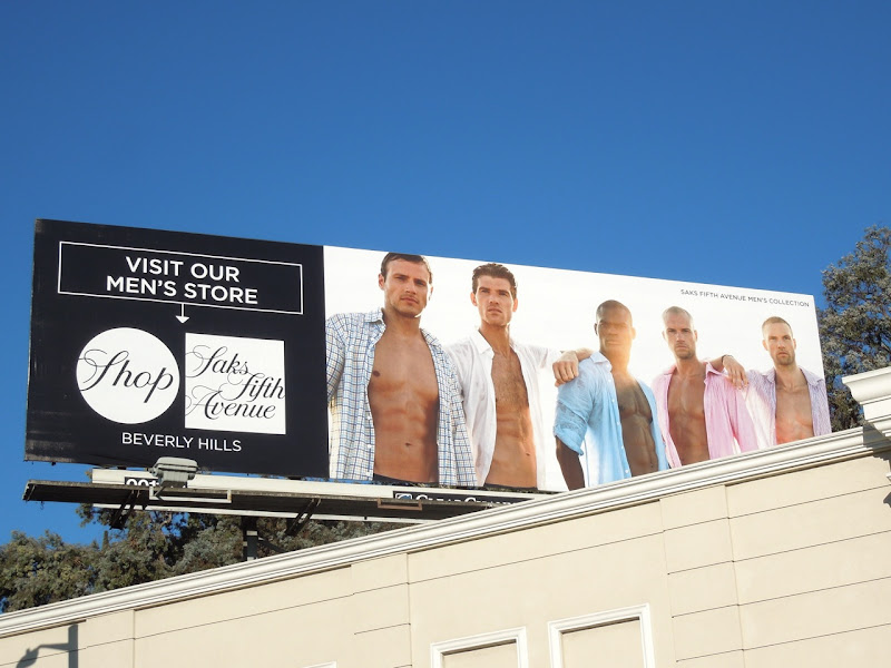 Saks Fifth Avenue Beverly Hills Mens store billboard
