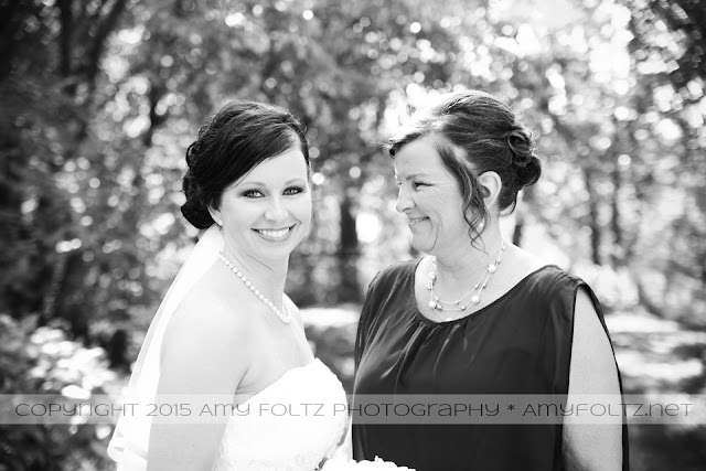 photo of bride and her mother