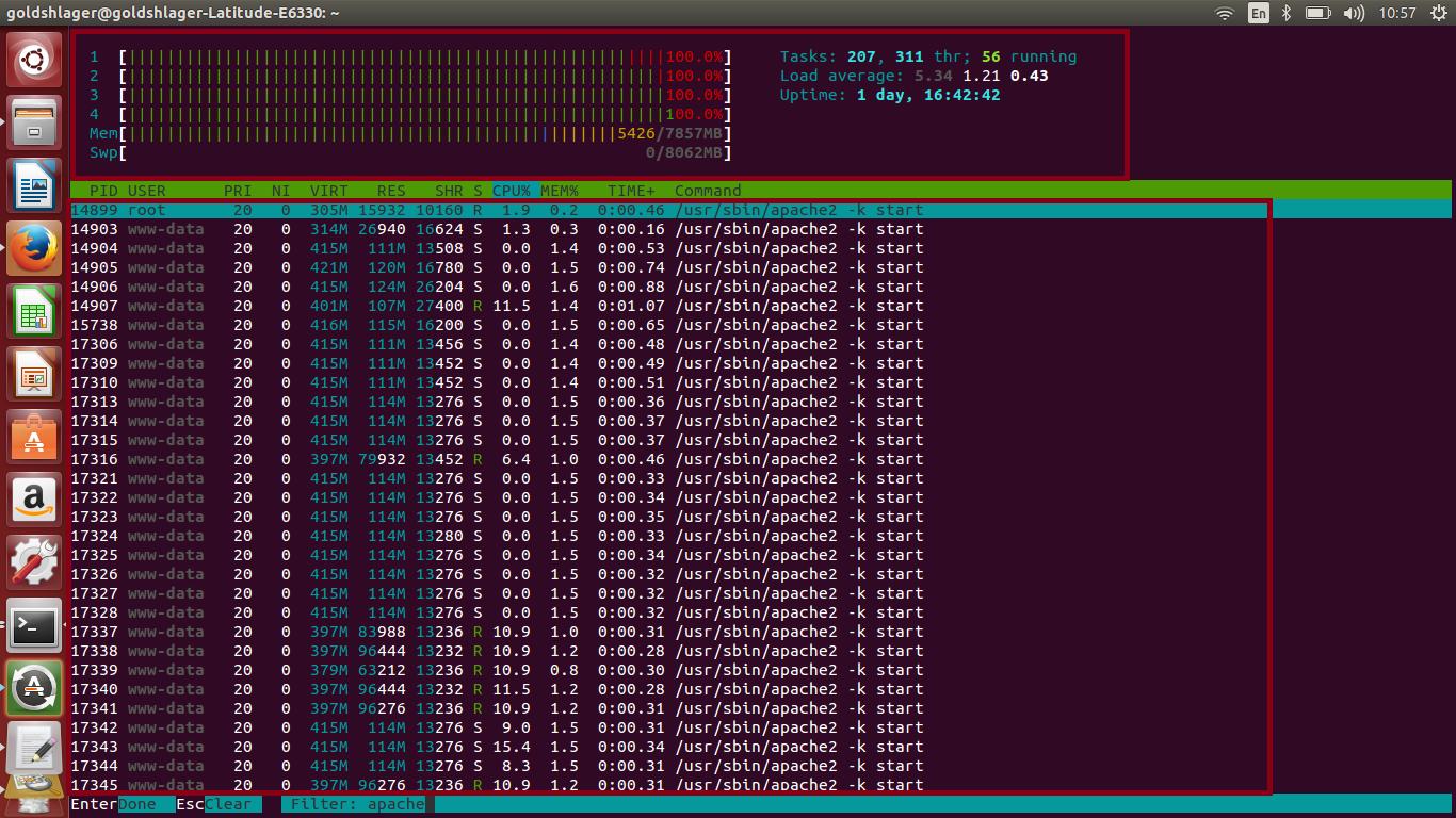 - 100% CPU, RAM Usage