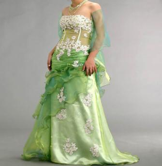 Apple Green Wedding Cake