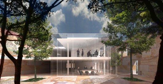 arq alberto campo baeza infografa del interior el volumen puro de vidrio es la delicada que el arquitecto esconde en un basto joyero de piedra