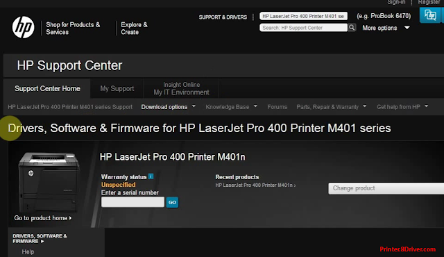 download HP LaserJet Pro 400/M401dn Printer driver 1