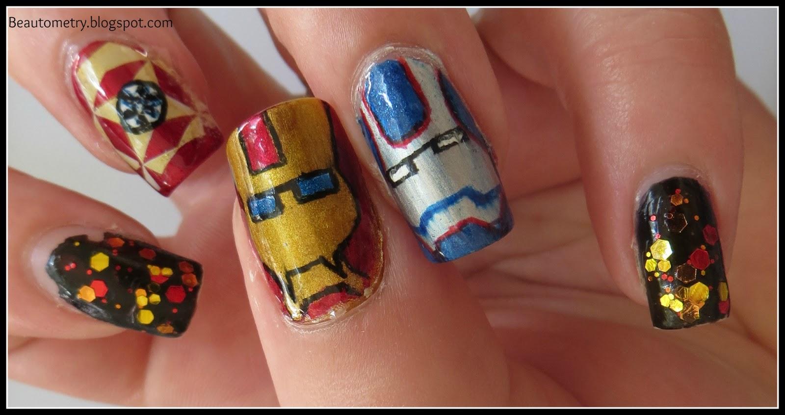 Beautometry: Iron Man 3 Movie Manicure + Tutorial!!