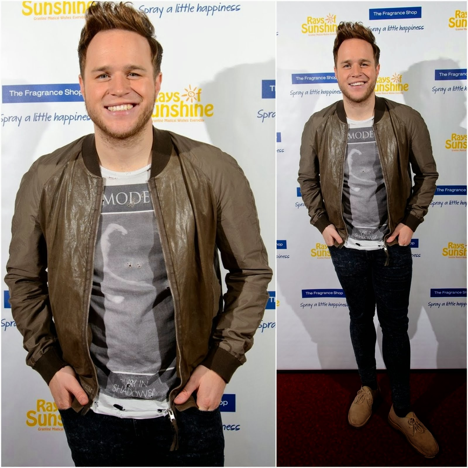 Olly Murs's All Saints White Mode T-Shirt - Rays of Sunshine Concert Launch