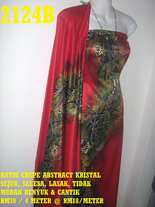 2124B: BATIK CREPE ABSTRACT KRISTAL,  4 METER