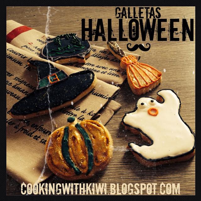 GALLETAS DE HALLOWEEN (masa de galletas de mantequilla y receta de glasa)