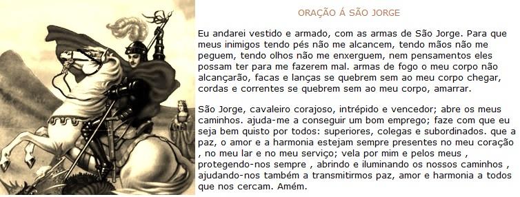 Extremamente UMBANDA AMADA: ORAÇÃO SÃO JORGE SC69