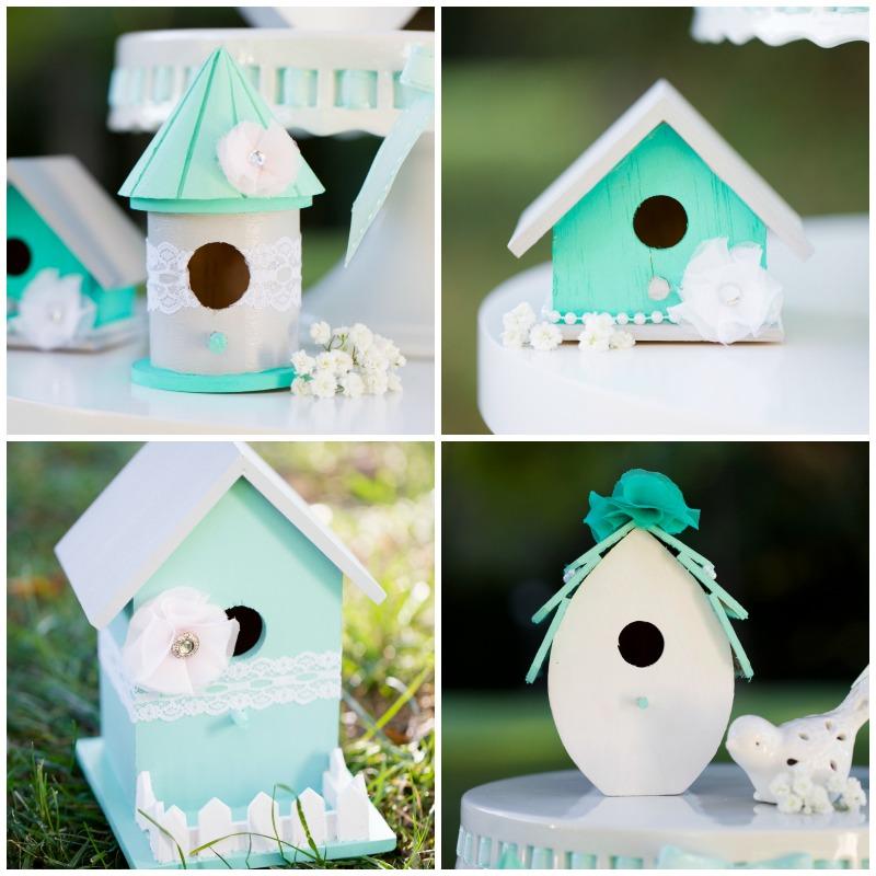 Wedding wednesday shabby chic bird house decor the - Decorating with bird houses ...