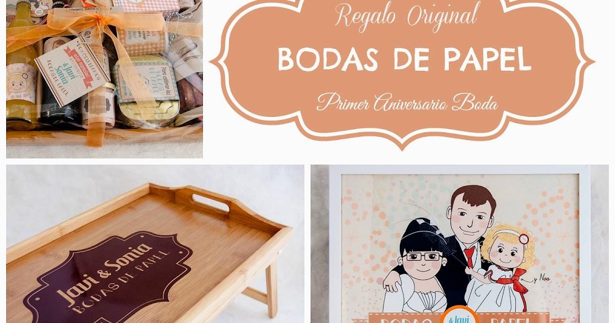 Blog Mi Boda Regalo original Primer Aniversario de Boda , Bodas de Papel