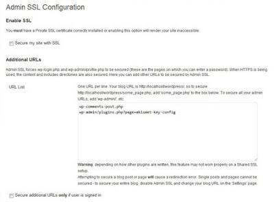 Admin SSL Secure Plugin