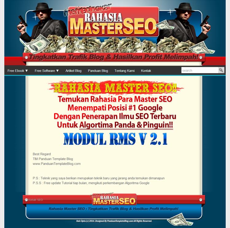 Template Blogger Minisite SEO Friendly