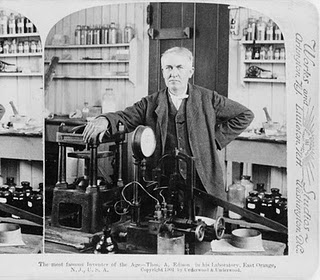 Thomas Edison photo, Thomas Edison picture, Thomas Edison World Records, World's Longest Lasting Light Bulb, Thomas Edison motion picture camera, scientist Thomas Edison