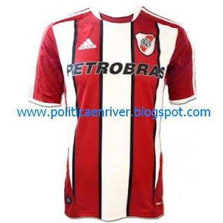 Nueva camiseta River Plate tricolor alternativa 2011-2012