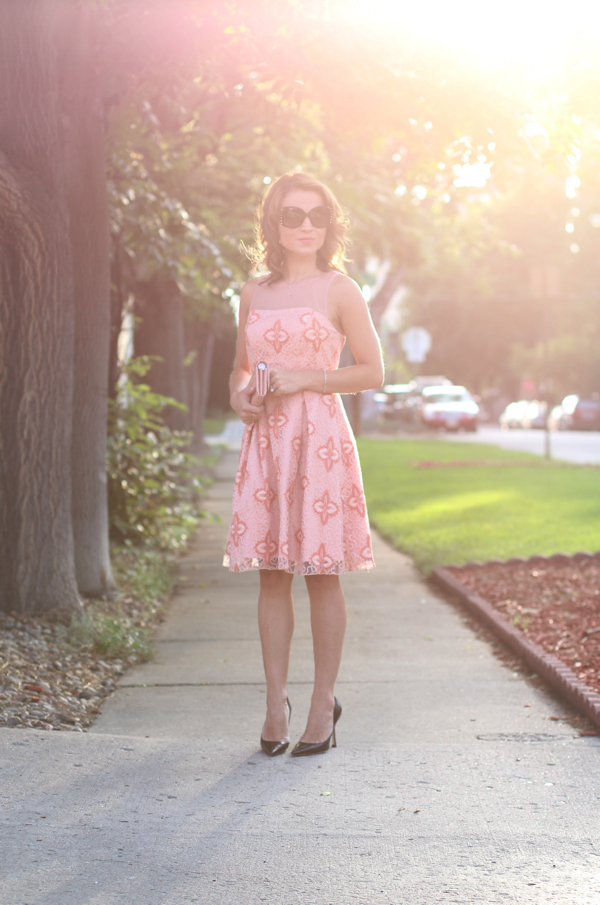 eva franco peach blossom dress