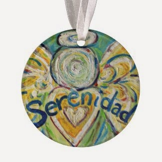 Serenidad Angel Word Ornament