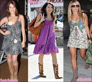 fotos de Vestidos com Botas