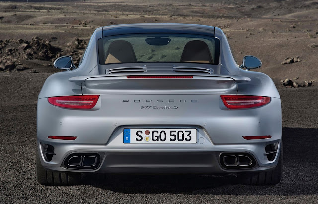 Porsche 911 Turbo S from behind