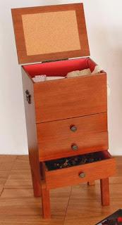 costurero madera cajones, costurero grande, caja modistas, mueble costura