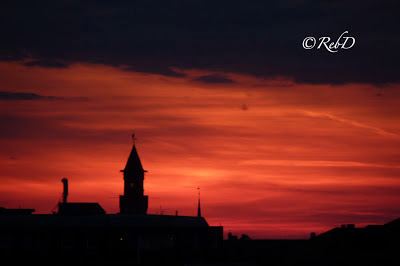 Stadssiluett i solnedgång. Helsingborg. foto: Reb Dutius