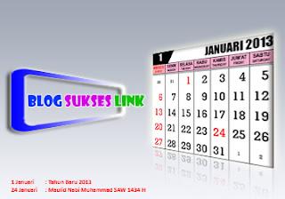 kalender januari 2013