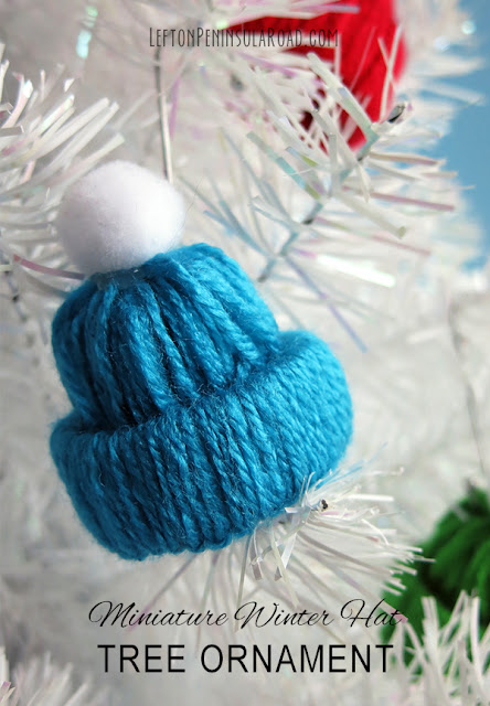 Make adorable winter hats to adorn the tree or string on a garland.
