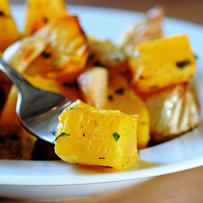 Roasted Banana Squash w/Tarragon