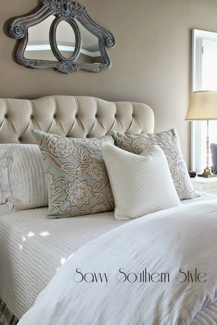 Savvy Southern Style Winter White Bedroom