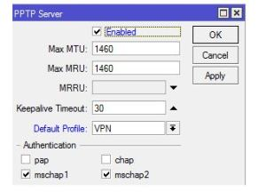 setting vpn di mikrotik