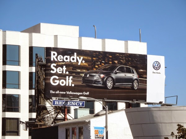 Ready Set Golf VW car billboard