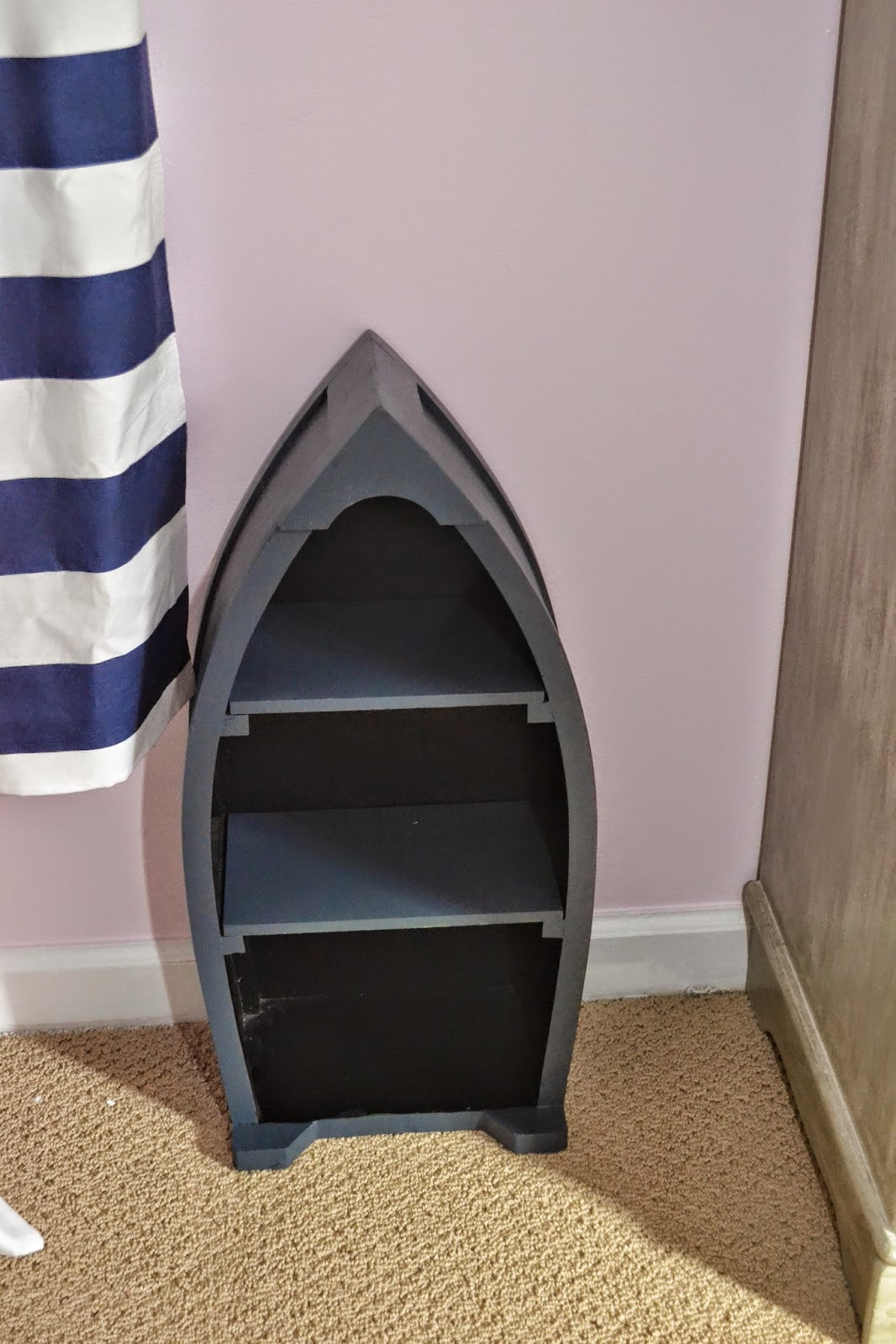 Another Great Hobby Lobby Clearance Find This Boat Bookshelf It Was Originally 99 But I Found For 29 Strangely Enough Realized That Diffe