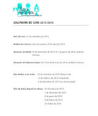 Calendari Escolar 2015-2016