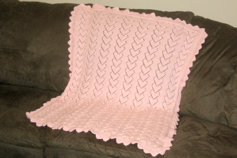 The Spicy Knitter Fo Hearts Baby Blanket