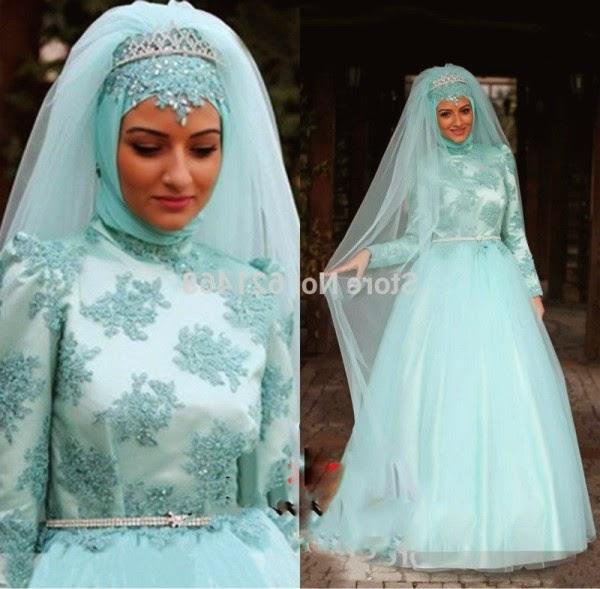 gambar gaun pengantin muslim