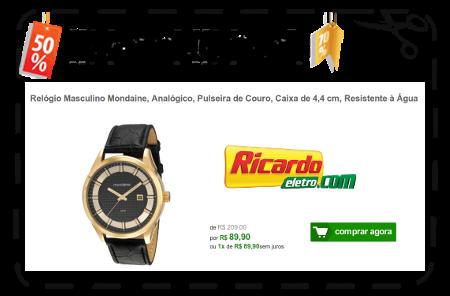 362c855197a89 Ricardo Eletro - Relógio Masculino Mondaine De  R 209,00 Por  R 89 ...