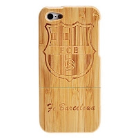 funda iphone 5 madera fc barcelona