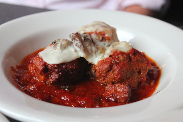 Meatballs at Sophia's Grotto, Roslindale, Mass.