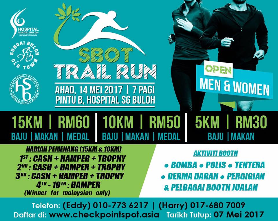 SBOT Trail Run 2017 - 14 May 2017