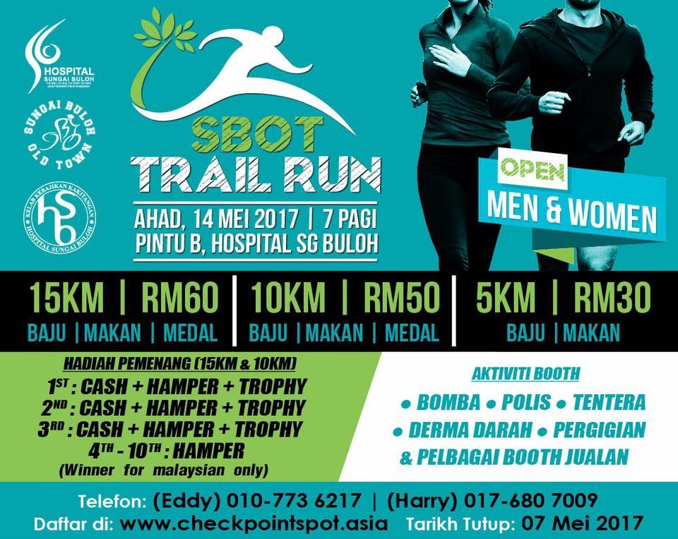 SBOT Trail Run 2017 - 14 May 2017