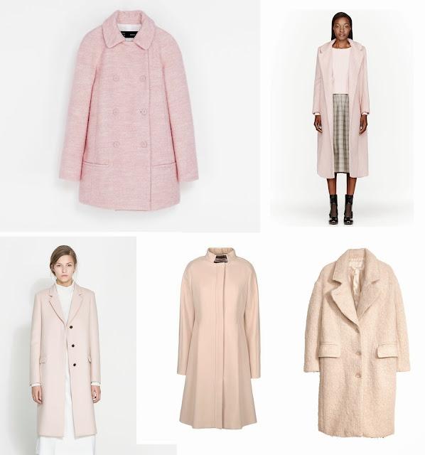 pink coat, coats, baby pink, fashion blogger, fashion trend 2013, street trend 2013, winter 2013, roksanda ilincic, zara, H&M, chloe