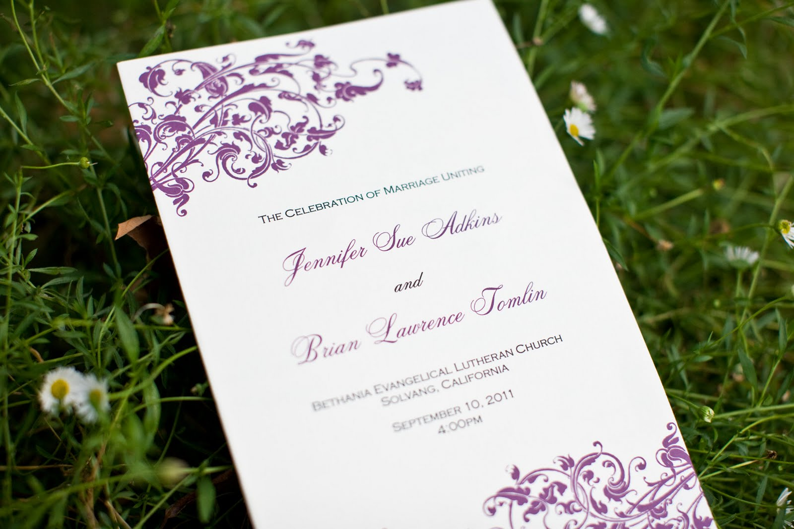 Whimsical Scroll Purple Wedding Invitations | Blush Paperie