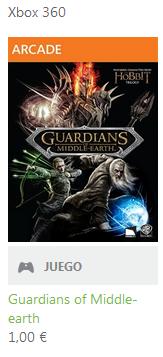 Oferta en Xbox Live, juego Guardians of Middle Earth por 1€
