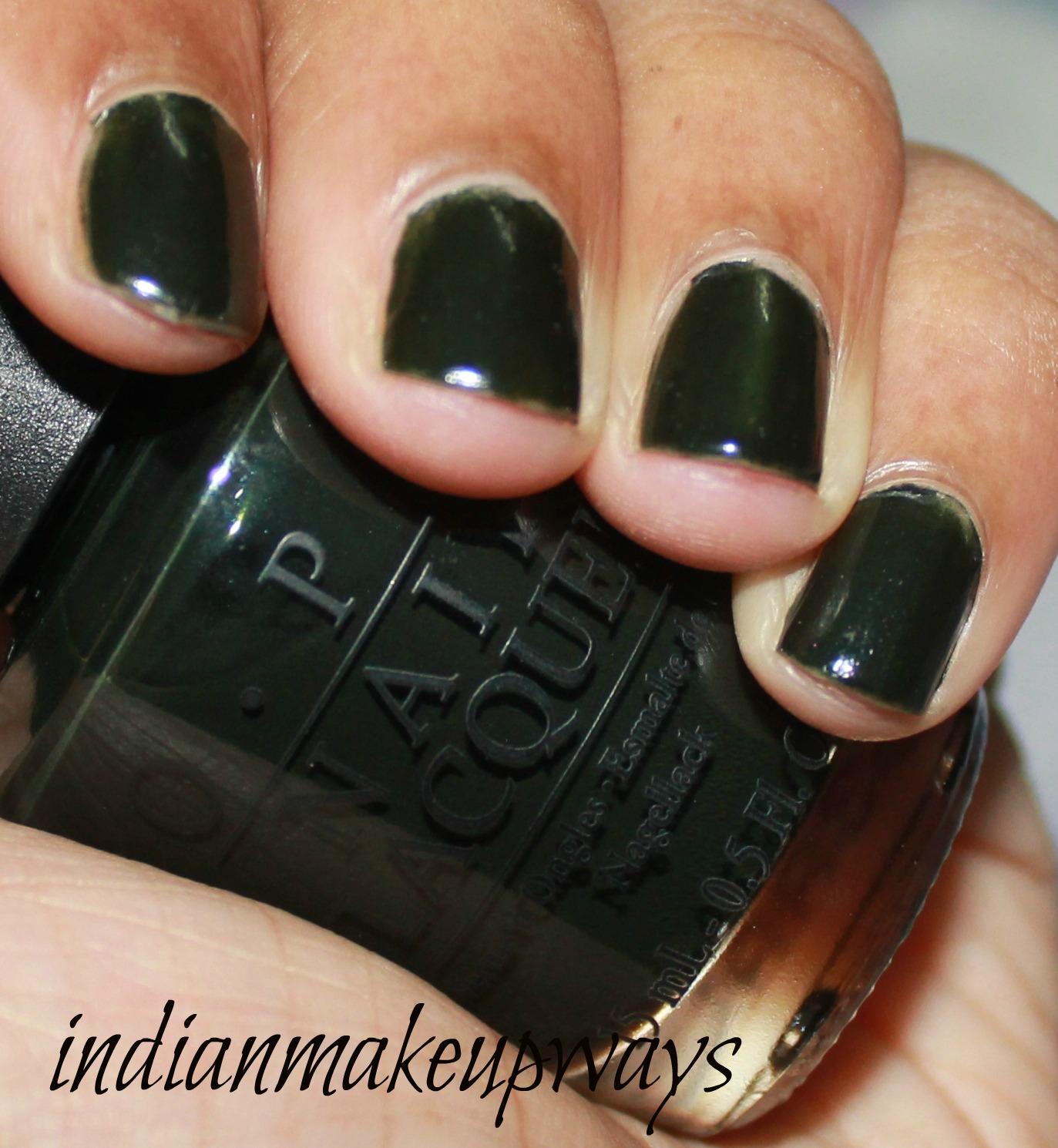 Dark Green Nail Polish Opi   Best Nail Designs 2018